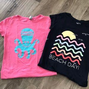 Bundle of two girls Beach T-shirt's